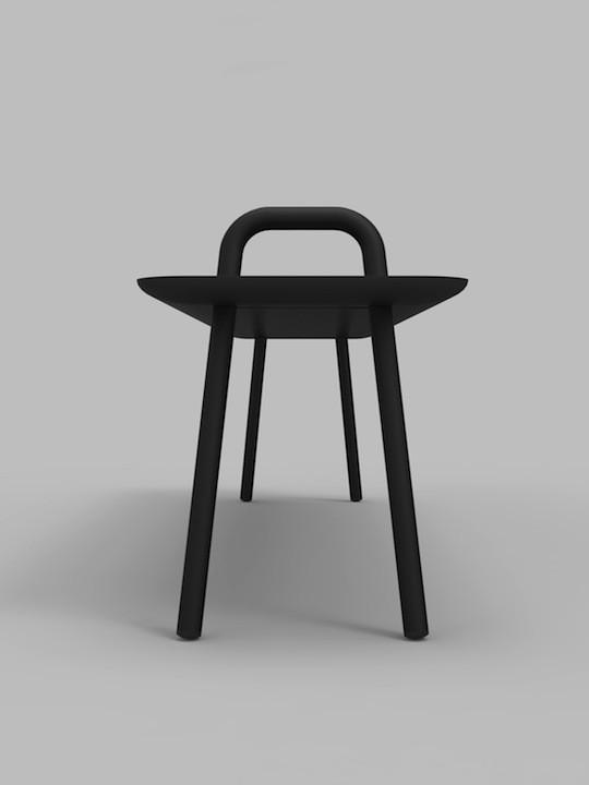 Mickael_Dejean_Designenvue_AGRAFE_BANC_VALCHROMAT®_PROFIL_NOIR